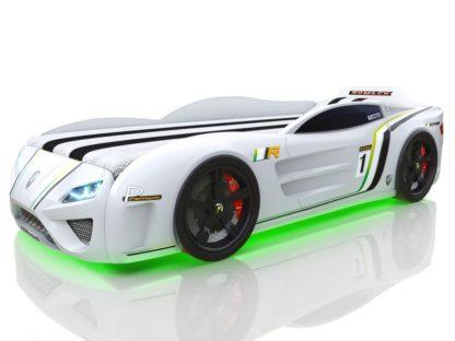 Белая кровать-машина Romack SportLine