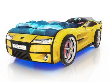 Кровать-машина Romack Kiddy - цвет желтый
