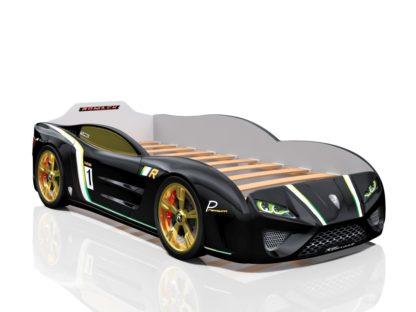 Черная кровать-машина Romack SportLine