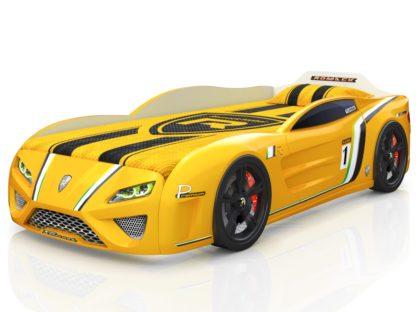 Кровать-машина Romack SportLine желтая