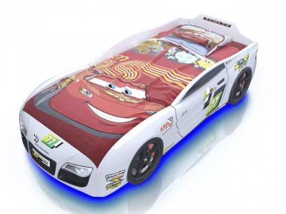 кровать-машина Romack Renner 2 - цвет белый ketti