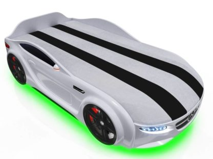 Кровать-машина Romack Junior белая