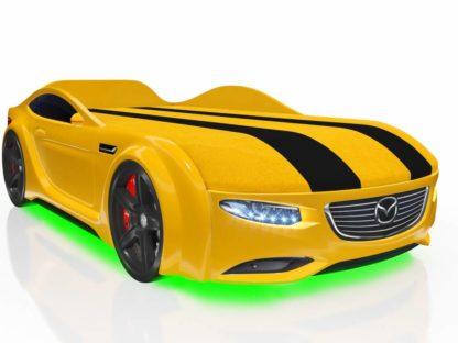 Кровать-машина Romack Junior желтая