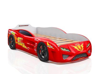 Кровать-машина Romack Dreamer красная молния