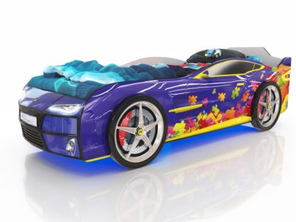 Кровать-машина Romack Kiddy - цвет синий пазл