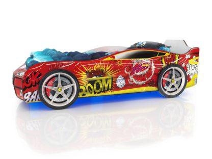 Кровать-машина Romack Kiddy - цвет красный бум