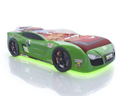 Кровать-машина Romack Renner 2 - цвет зеленый