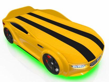 Кровать-машина Romack Junior Passat желтая