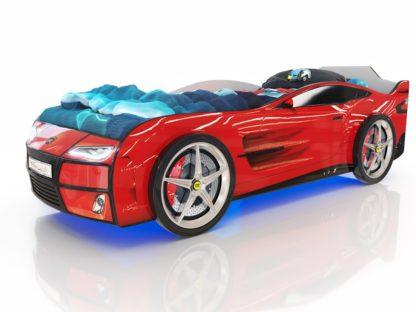 Кровать-машина Romack Kiddy - цвет красный